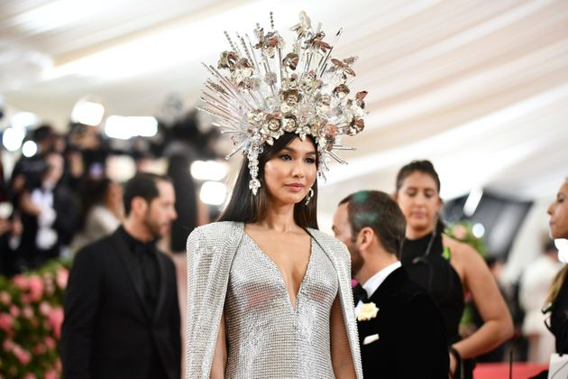For her first Met Gala, Gemma Chan was outfitted in an Elizabeth Taylor-inspired look by Tom
