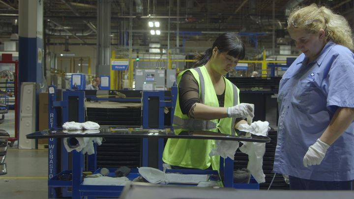 """A scene from the documentary """"American Factory."""""""