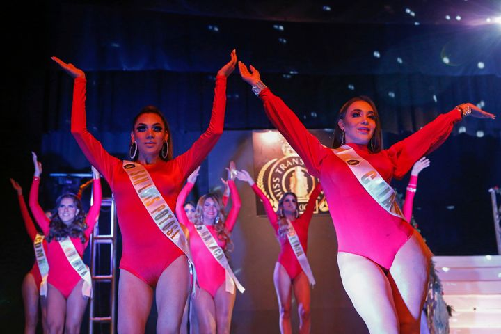In all, 21 transgender beauty queens representing different Mexican states participated in the three-part competition.