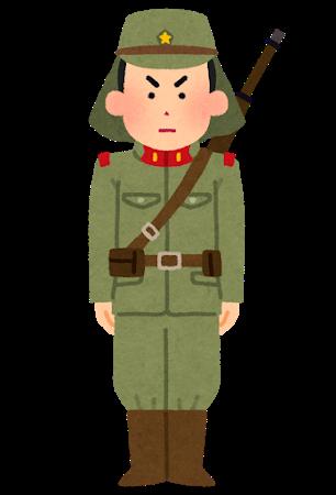 旧日本兵のイメージイラスト