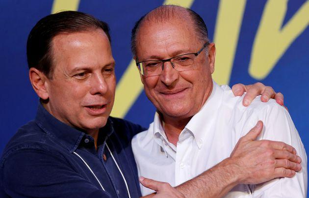 João Doria e Geraldo Alckmin: ex-aliados, representam a cara do novo PSDB e do