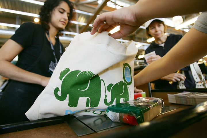 Whole Foods stopped giving out plastic grocery bags in 2008.