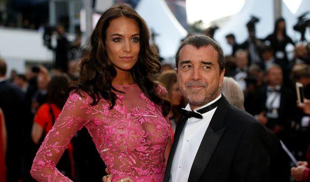 Jade et Arnaud Lagardère sur le tapis rouge du Festival de Cannes en