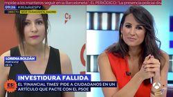 El corte de Lorena García, la presentadora de 'Espejo Público', a la nueva portavoz de Ciudadanos por el pacto con el