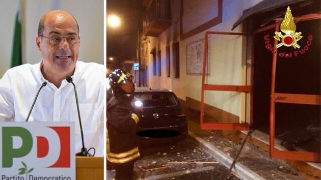 Zingaretti sull'attentato contro la sede del Pd: