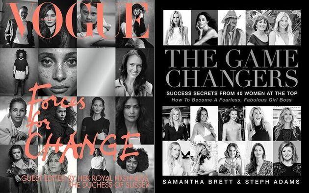15 portraits de femmes en noir et blanc sur les deux couvertures. Le mot