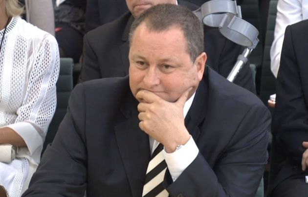 Mike Ashley gives evidence to the Business, Innovation and Skills Committee at Portcullis House, London,...