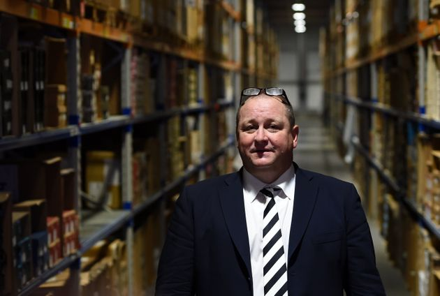 Mike Ashley at the company's warehouse in Shirebrook, Nottinghamshire, as it held an open day coinciding...