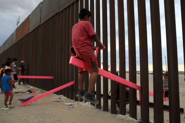 Someone Installed See-Saws At The US-Mexico Border So Kids Can Play Together