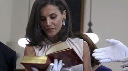 La reina Letizia vive un día de trabajo en la Biblioteca