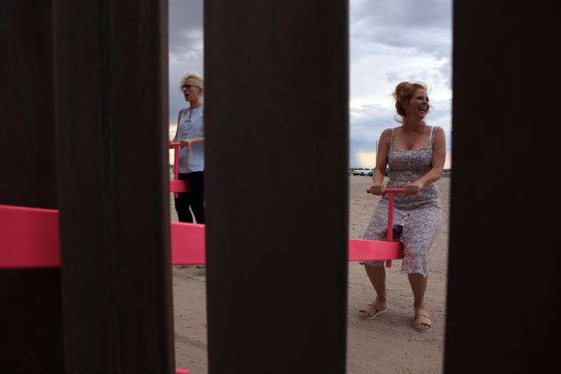 Someone Installed See-Saws At The US-Mexico Border So Kids Can Play