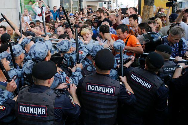 Ρωσία: 61 άτομα υπό κράτηση μετά τις διαδηλώσεις της 27ης Ιουλίου στη