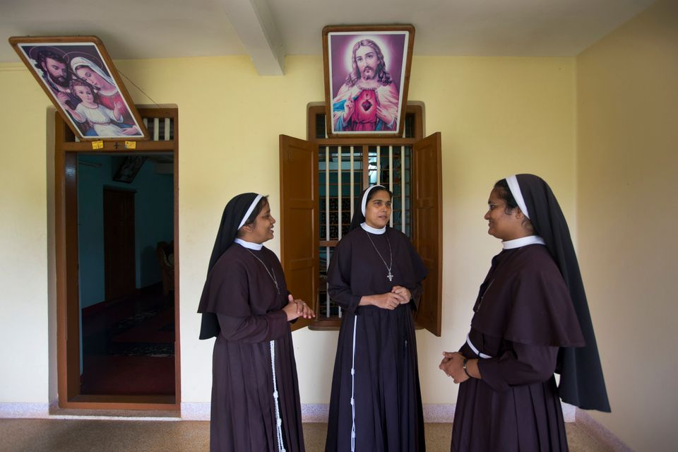 Sister Josephine Villoonnickal, sister Alphy Pallasseril, and Sister Anupama