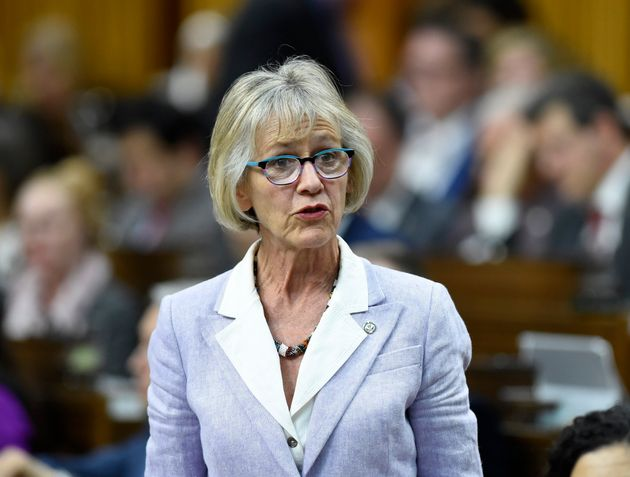 Treasury Board President Joyce Murray rises in the House of Commons on May 16,
