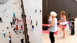 El balancín que une a los niños en la frontera de Estados Unidos y