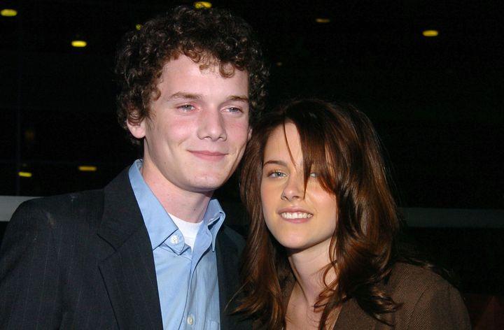 "Anton Yelchin and Kristen Stewart at the ""Fierce People"" premiere in 2005."