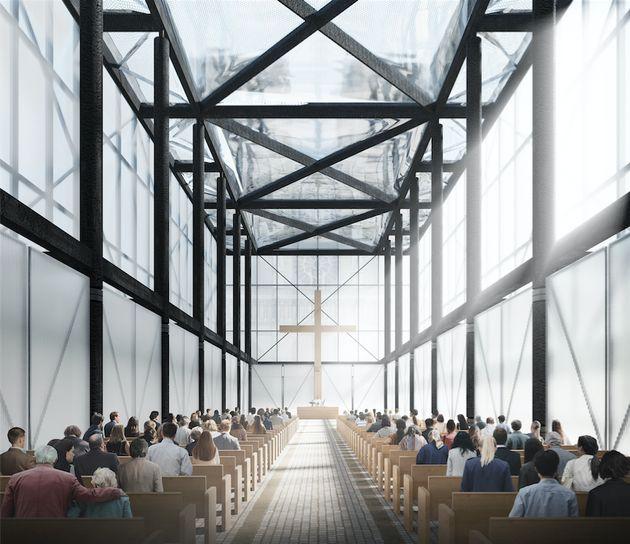 L'édifice pourrait accueillir 800