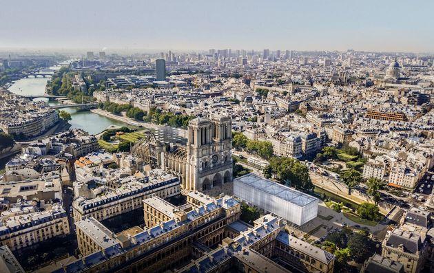 Une cathédrale éphémère sur le parvis de Notre-Dame? Voici le premier projet