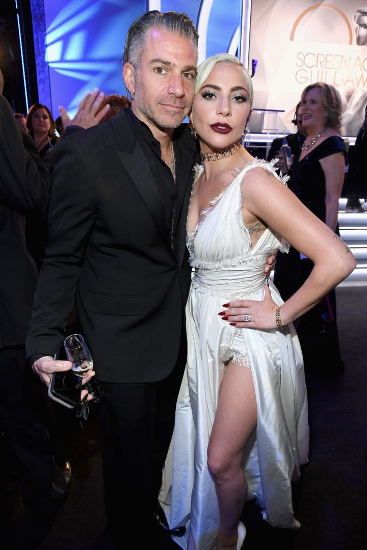 Christian Carino and Lady Gaga pictured together at the Screen Actor's Guild Awards.