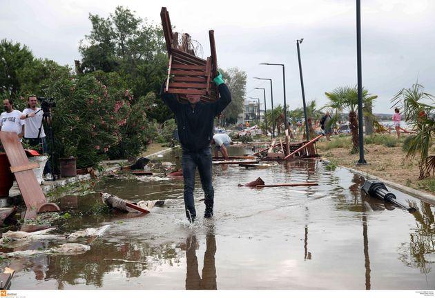 Η καταιγίδα στη Χαλκιδική στις 10 Ιουλίου είχε διάμετρο 160 χλμ. και ριπές ανέμου έως 132 χλμ. την