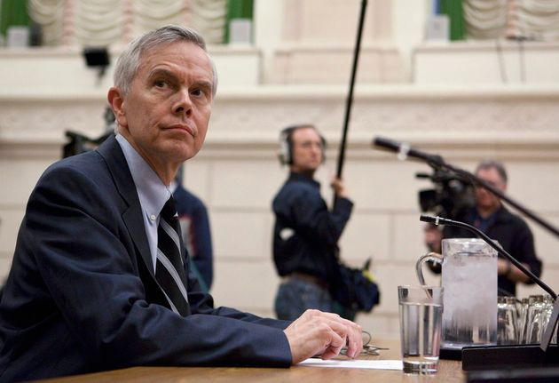 DavidMulroney, Canada's former ambassador toChina, is seen before testifying at committee...
