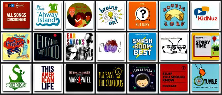 <p>Entertaining, informative, and kid-friendly podcasts for bedtime, road trips, and more. Best part? They&#39;re screen-free. </p>