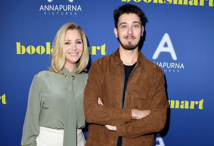 "Lisa Kudrow and her son attended a screening of ""Booksmart"" in May."