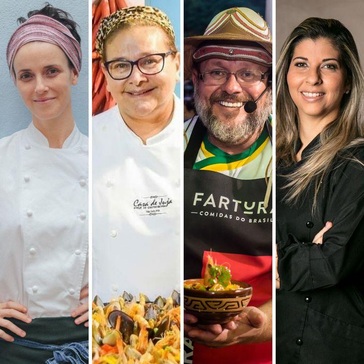Os chefsHelena Rizzo,Ana Lula, João Barreto e Lisiane Arouca.