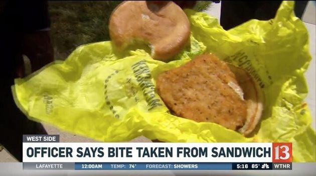 Registro do sanduíche com
