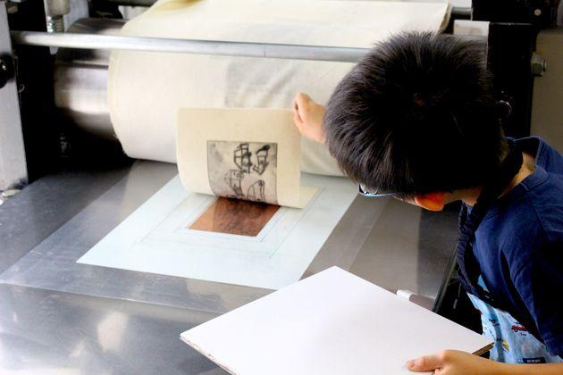 版画入門 削って描く銅版画~版画工房で作品をつくろう