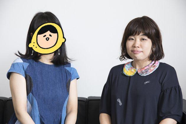 (左から)はるな檸檬さん、最新刊『ブスの自信の持ち方』を上梓したばかり山崎ナオコーラさん