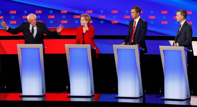 CNN's moderators quickly set up clashes between Warren and Sanders and lower-tier moderates during...