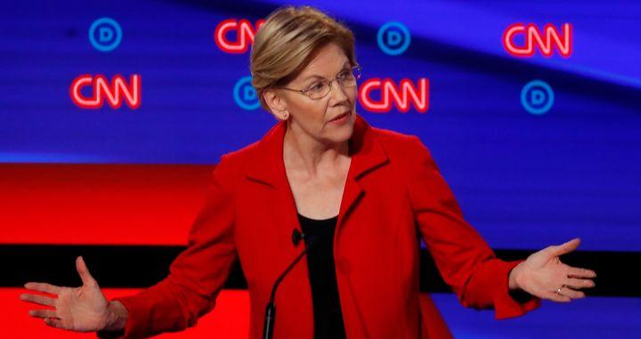 When responding to John Delaney in Tuesday night's debate, did Sen. Elizabeth Warren kill it?