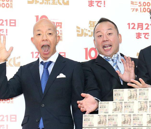 お笑いコンビ「バイきんぐ」の小峠英二さん(左)、西村瑞樹さん(右)