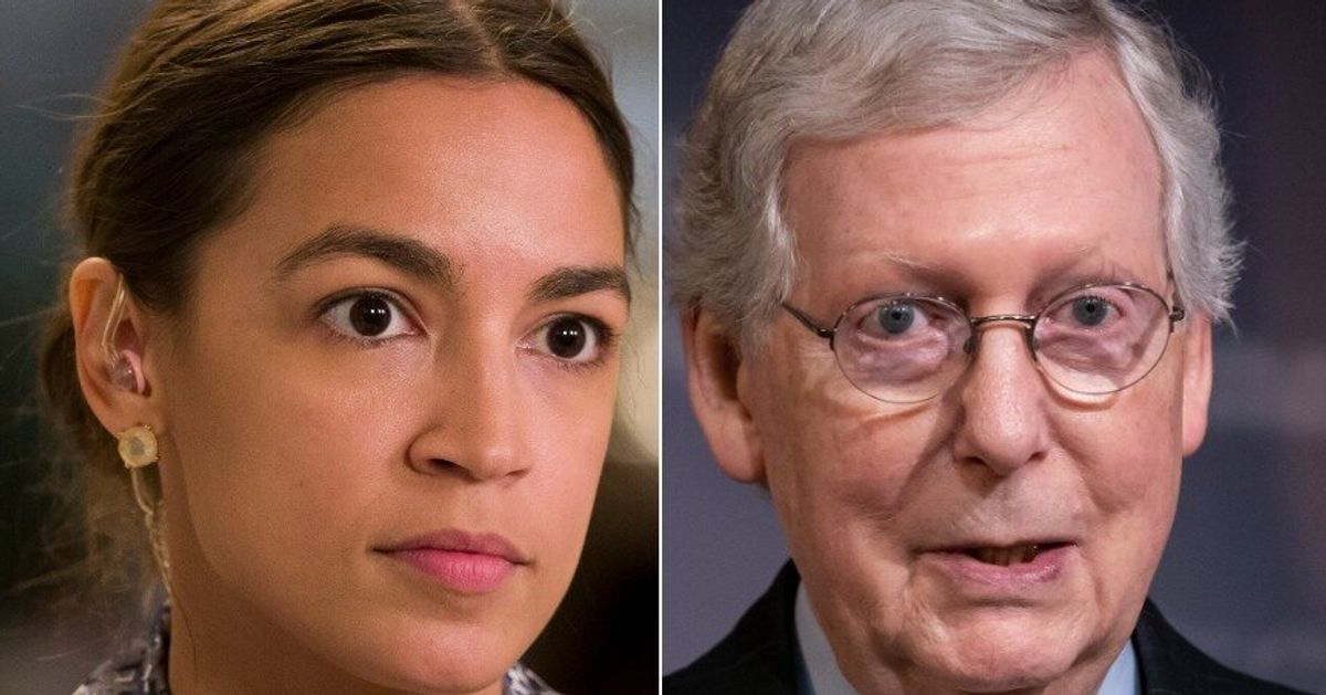 Alexandria Ocasio-Cortez Gives Mitch McConnell A Semantics Lesson After His McCarthyism Gripe thumbnail