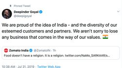 Zomato Founder Had The Best Response For Customer Who Complained About A Muslim Delivery