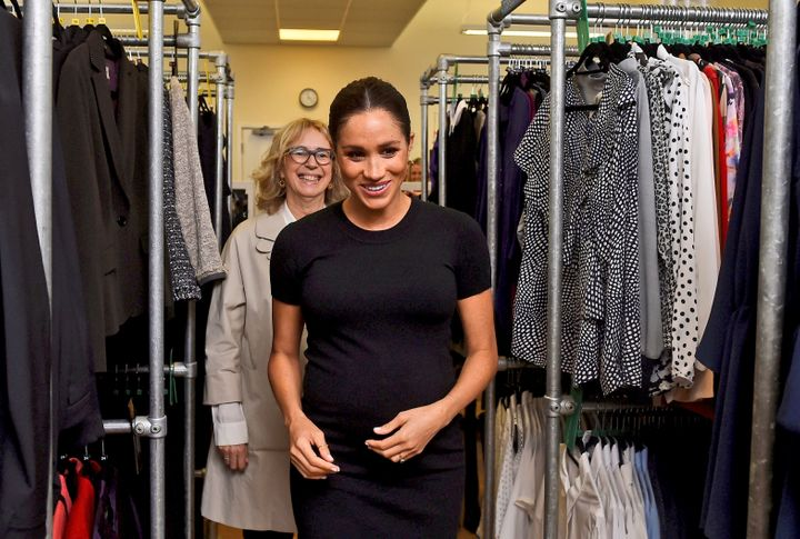 Meghan Markle during a visit to Smart Works earlier this year.