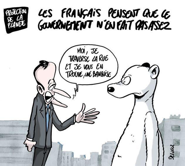 Emmanuel Macron a la même solution pour le réchauffement climatique et les