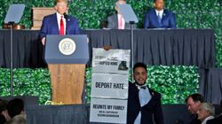 Donald Trump interrompu en plein discours par un élu musulman