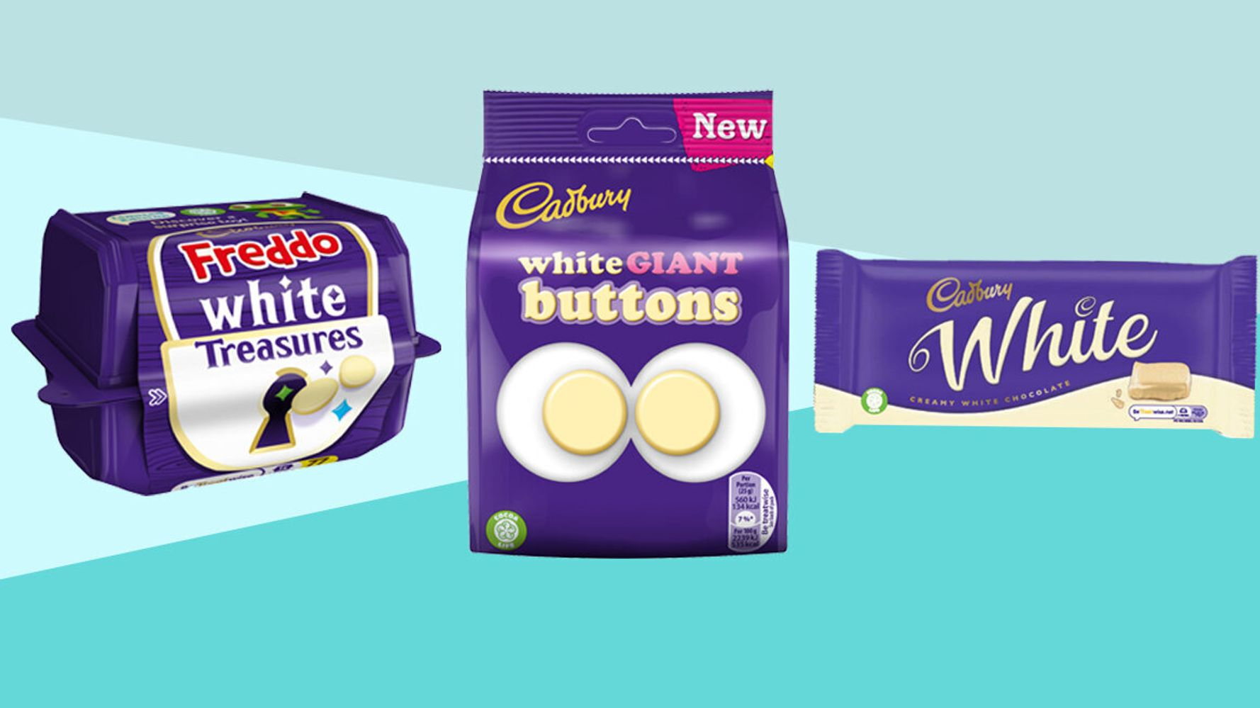 Cadbury Is Launching White Chocolate Freddos Buttons And