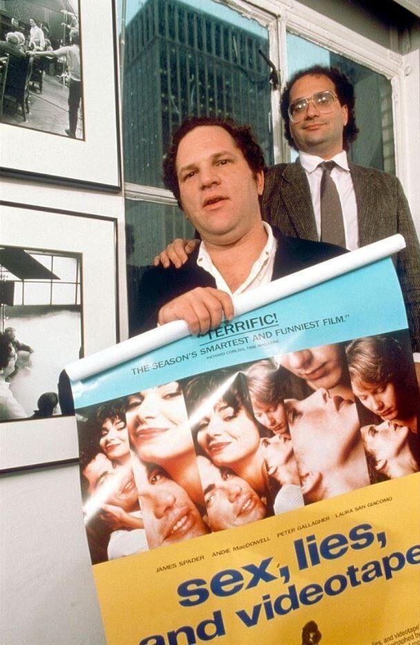 Harvey Weinstein et son frère Bob en 1989, quelques années avant que Disney ne rachète...