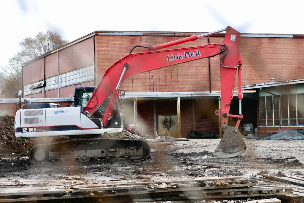 The EPA has taken over the old Carver High School in North Birmingham, storing new dirt for the clean-up of the Superfund sit