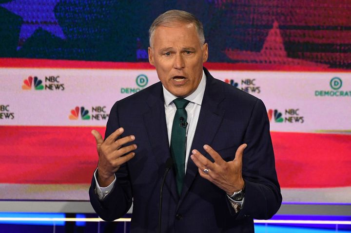 Washington Gov. Jay Inslee, who wrote a book calling for a climate jobs policy back in 2007, is running as the 2020 election'