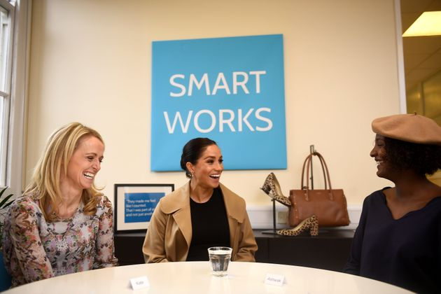 Meghan Markle during her visit to the Smart Works London office on Jan.