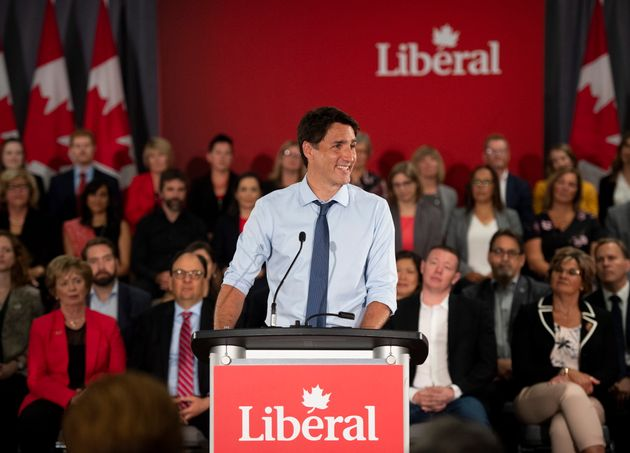 Prime Minister Justin Trudeau speaks to Liberal Party candidates for the 2019 election in Ottawa on July...