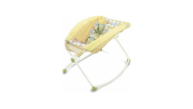 Newborn Rock 'N Play Infant Sleeper recalled by Fisher-Price, CPSC handout, graphic element on white