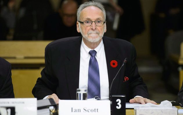 CRTC chair Ian Scott appearing front of the Senate transport committee in Ottawa, Tues....