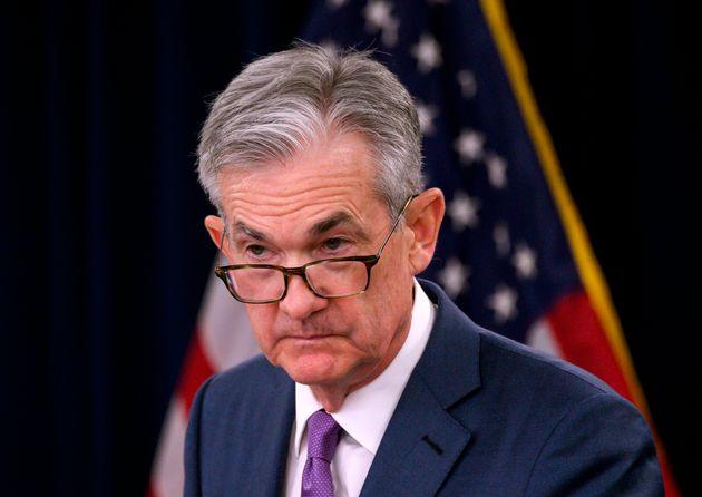 제롬 파월 미국 연방준비제도 의장이 연방공개시장위원회(FOMC) 회의 직후 열린 기자회견에서 발언하고 있다. 워싱턴DC, 미국. 2019년