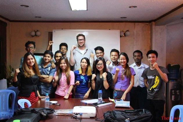 ウェイウェイさんがヤンゴンに設立したユース・リーダーシップセンター
