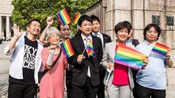 石川大我氏が初登院、国会前でレインボーフラッグ掲げる。「虹色の1議席を国会で生かしていきたい」
